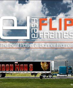 Iron Man 3 - Trailer Truck Aluminum Billboard flip Up Banner Frame